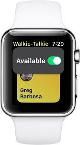 walkie talkie iPhone watch