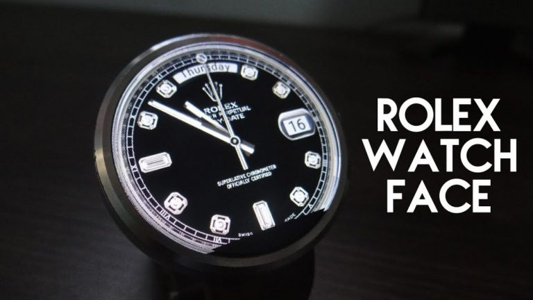 Rolex watch face for android wear